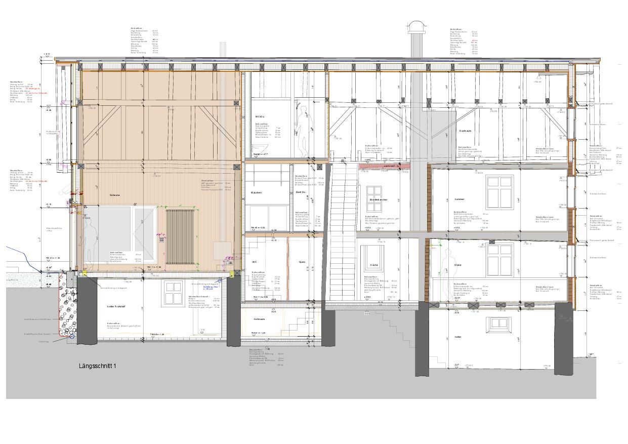 Schnitt 20 Schuhmacher-Nägele-Haus von uli mayer urs hüssy architekten ETH SIA AG