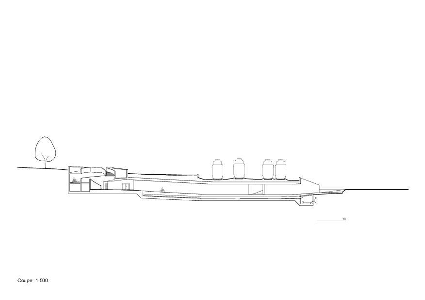 Schnitt Trait d'union - passage sous-voie pour la mobilité douce von PONT 12 Architectes SA