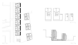 Grundriss und Schnitt L'Îlot-du-Centre von Richter - Dahl Rocha & Associés architectes SA