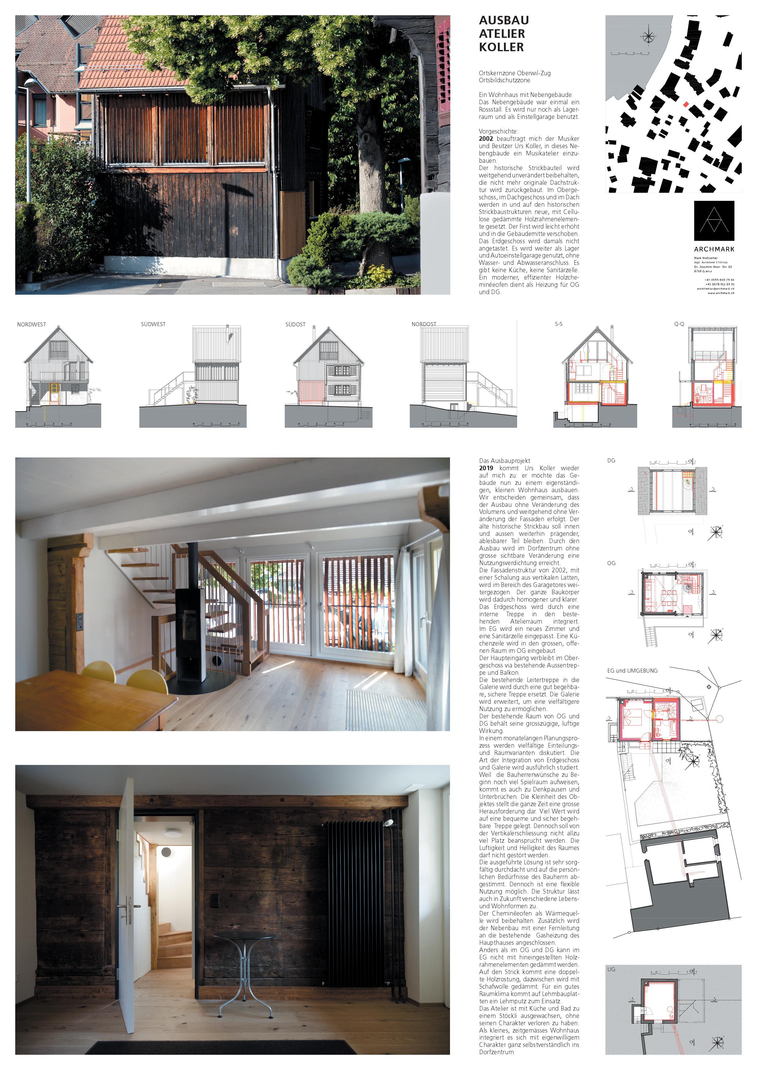 AO-Plan Ausbau Atelier Koller de Dipl. Architekt ETH/SIA<br/>