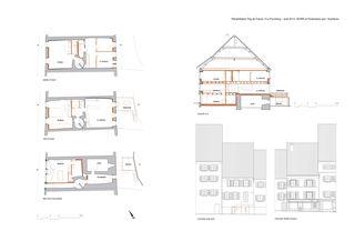 Grundrisse 1:100 Rehabilitation en centre ancien, Fbg de France Porrentruy von Burri et Partenaires sarl