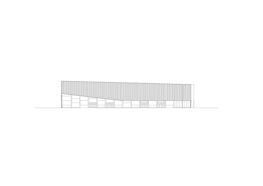 Façade est Lonza Arena de ARGE rollimarchini Scheitlin Syfrig Architekten