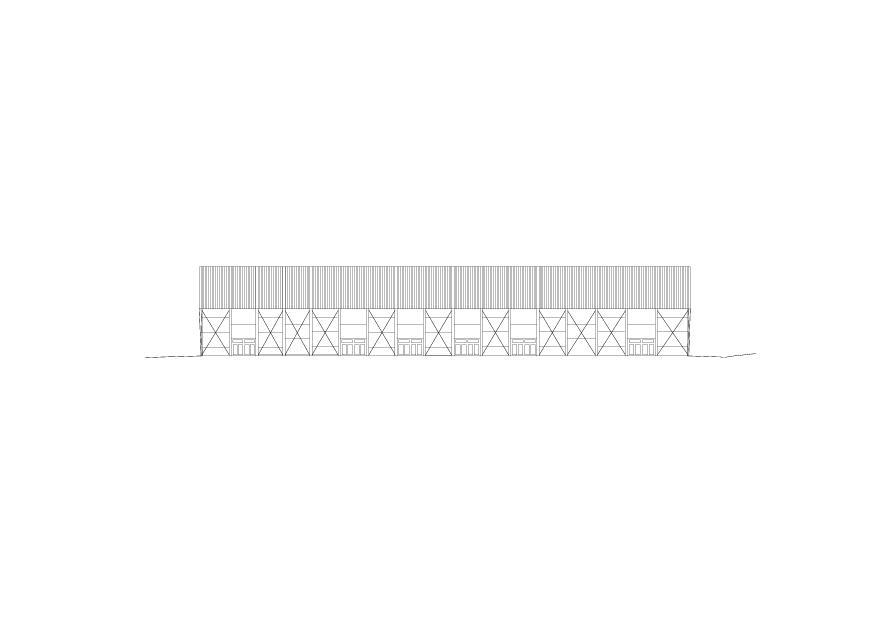 Façade sud Lonza Arena de ARGE rollimarchini Scheitlin Syfrig Architekten