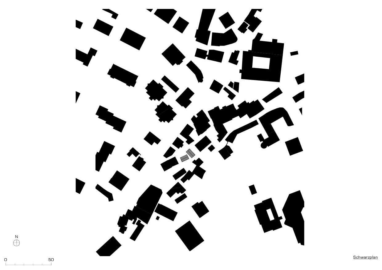 Plan de masse Tiny Houses, Schwyz de marty architektur AG