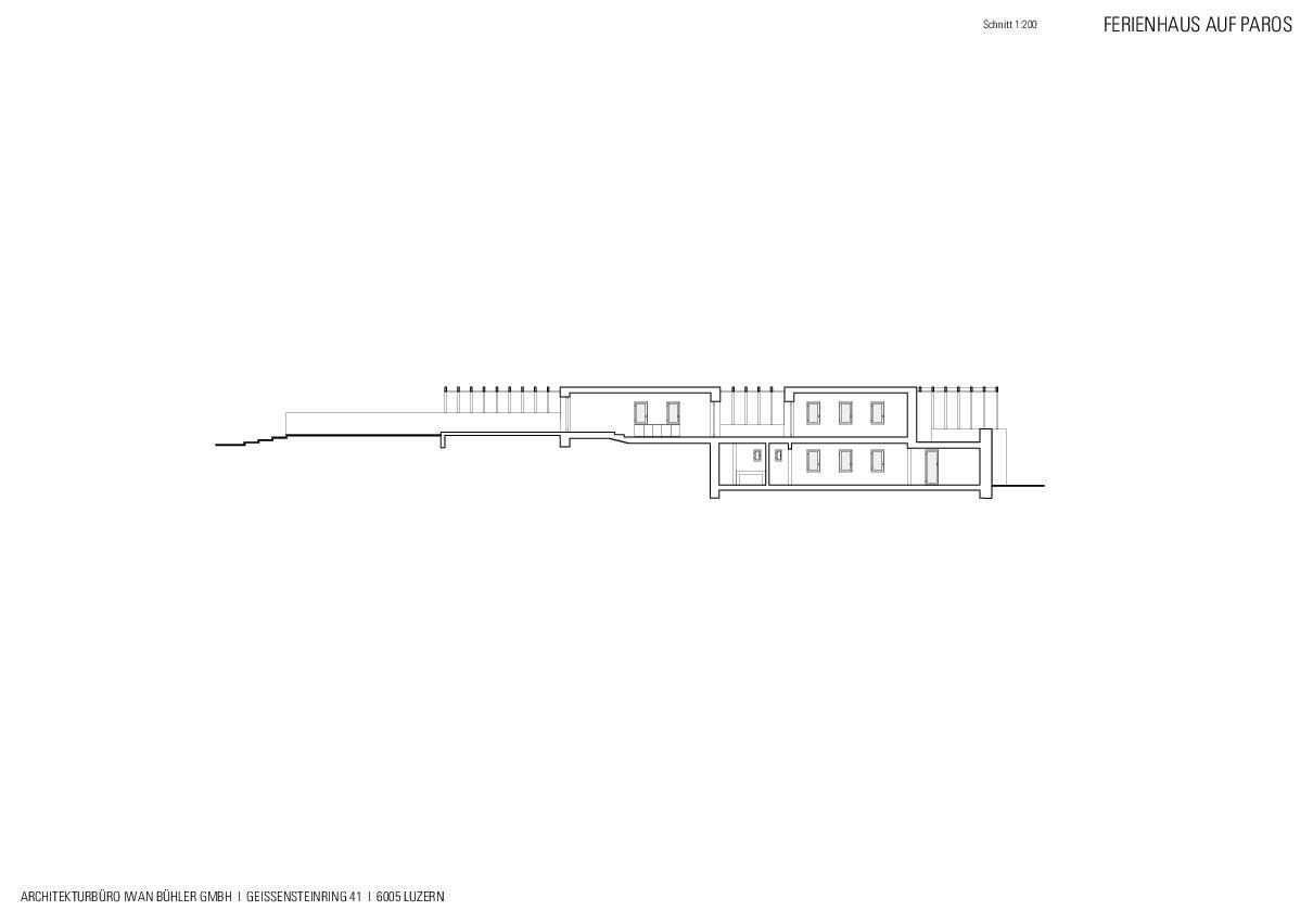 Schnitt Ferienhaus auf Paros von Architekturbüro Iwan Bühler GmbH