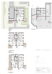 Grundrisse Haus 1 Wohnsiedlung In den Gärten von Büchel Neubig Architekten