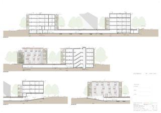 Schnitte Wohnsiedlung In den Gärten von Büchel Neubig Architekten