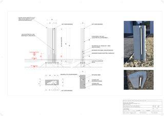Designstudie Lichtstele Wohnsiedlung In den Gärten von Büchel Neubig Architekten