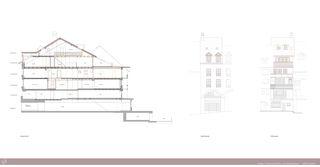 Schnitt, Fassaden Umbau Altstadthaus, Burgdorf von AvS Hausdesign GmbH