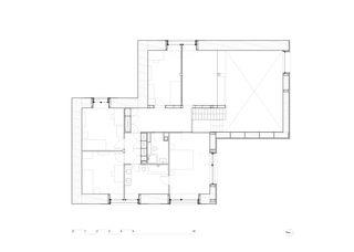 Plan étage MAISON EN PAILLE AUX CULLAYES de PONT 12 Architectes SA
