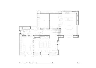Plan rez MAISON EN PAILLE AUX CULLAYES de PONT 12 Architectes SA