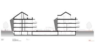 Schnitt 2 MFH «HORIZONTE» von Marc Hess Architektur gmbh