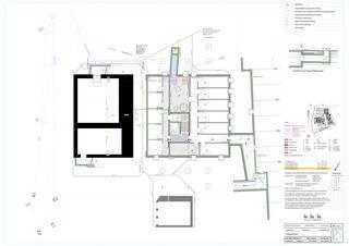 Grundriss Untergeschoss Schlossgut von BEE Architekten AG