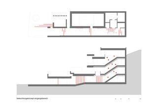 Beleuchtungskonzept Eingangsbereich Einfamilienhaus in Ottoberg von air architekten ag