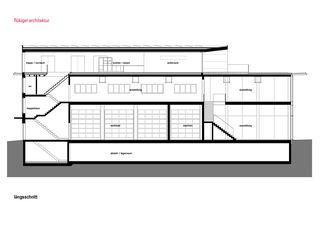 Längsschnitt Attikaaufbau in Langnau von flükiger architektur gmbh