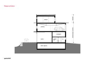 Querschnitt Attikaaufbau in Langnau von flükiger architektur gmbh