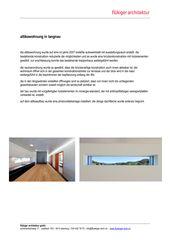 Baubeschrieb Attikaaufbau in Langnau Attikaaufbau in Langnau von flükiger architektur gmbh