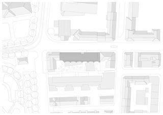 Situation Alterswohnen Feldstrasse Zürich von Patrik Linggi Architekten AG/Planergemeinschaft Durrer Linggi Architekten AG/Perolini Baumanagement