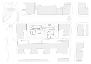Erdgeschoss Alterswohnen Feldstrasse Zürich von Patrik Linggi Architekten AG/Planergemeinschaft Durrer Linggi Architekten AG/Perolini Baumanagement