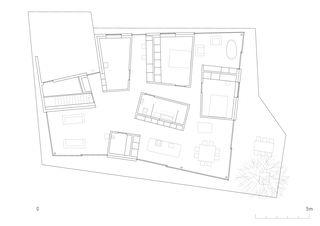 Grundriss EG Maison Magliocco, Chamoson von savioz fabrizzi architectes fas