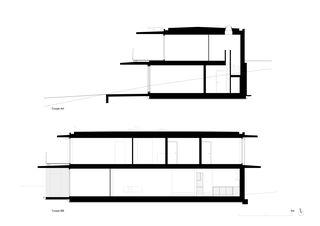 Schnitte MAISON FAMILIALE MINERGIE-P von PONT 12 Architectes SA