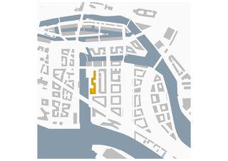 Schwarzplan Magdeburger Hafen, HafenCity Hamburg von Architekten ETH SIA BSA<br/>