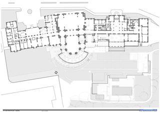 Coupe rez-de-chaussée Beau-Rivage Palace de Richter Dahl Rocha & Associés Architectes SA