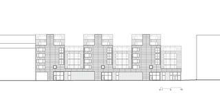 Ansicht 1:500 Badenerstrasse 380 von pool Architekten ETH SIA BSA