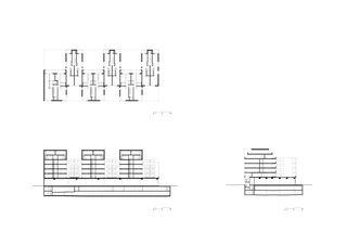 Grundriss und Schnitte 1:500 Badenerstrasse 380 von pool Architekten ETH SIA BSA