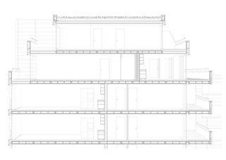 Schnittperspektive Badenerstrasse 380 von pool Architekten ETH SIA BSA