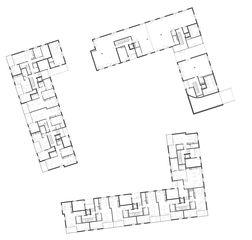Erdgeschoss Wohnüberbauung Siebenmättli Aarau-Rohr von Egli Rohr Partner AG Architekten BSA SIA