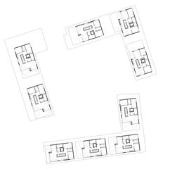Étage mansardé Wohnüberbauung Siebenmättli Aarau-Rohr de Egli Rohr Partner AG Architekten BSA SIA