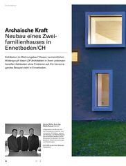 Projektberichte aussen vereint – innen entzweit von L3P Architekten AG
