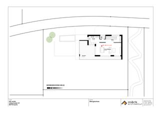 Plan 1er étage EFH Carlini in Buchs de märk architektur ag