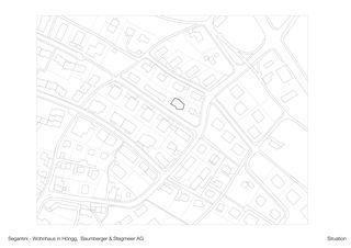 Pläne Situation/Grundrisse/Schnitte Segantini – MFH in Höngg von Baumberger Stegmeier AG