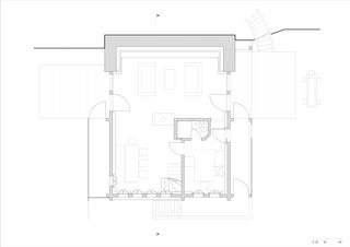 Grundriss OG Transformation d'une ancienne ferme en chalet von Wurlod Architectes