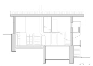 Schnitt A-A Transformation d'une ancienne ferme en chalet von Wurlod Architectes