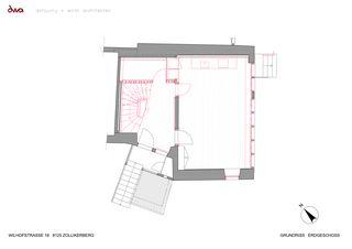 Grundriss Erdgeschoss Umbau Riegelhaus Zollikerberg von defourny + wirth architekten