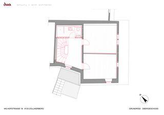 Grundriss Obergeschoss Umbau Riegelhaus Zollikerberg von defourny + wirth architekten
