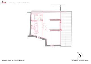 Grundriss Dachgeschoss Umbau Riegelhaus Zollikerberg von defourny + wirth architekten