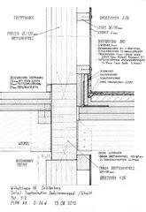 Detailskizze Wand Treppenhaus/Bäder Umbau Riegelhaus Zollikerberg von defourny + wirth architekten