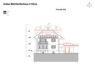 Façade sud Erweiterung und Renovation Wohnhaus in Köniz de Sunbilt (Schweiz) AG