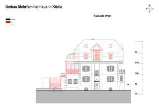 Façade ouest Erweiterung und Renovation Wohnhaus in Köniz de Sunbilt (Schweiz) AG