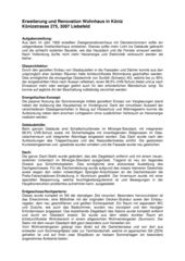 Description du projet Erweiterung und Renovation Wohnhaus in Köniz de Sunbilt (Schweiz) AG