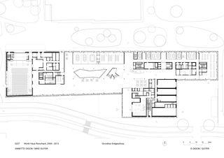 Grundriss Erdgeschoss Würth Haus von Annette Gigon/Mike Guyer Architekten AG