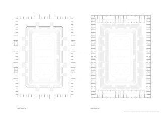 1. & 2. Obergeschoss Mst. 1: 200 Architektur & Sport: Ein Eisstadion für Langenthal im Oberaargau (BE) von