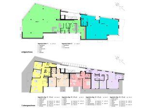 Rez de chaussée und premier étage Im Zentrum de WAP Wagner Architekten + Partner AG