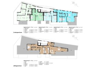 Deuxième étage et attique Im Zentrum de WAP Wagner Architekten + Partner AG