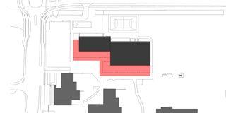 Situation 1:500 Sport- und Mehrzweckhalle von j.+d.schatzmann ag, architekturbüro fh