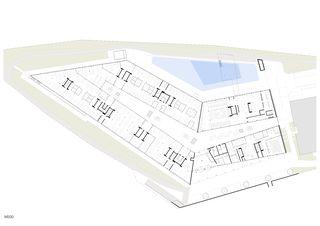 Plan du rez-de-chaussée Swisscom Business Park de Atelier 5 Architekten und Planer AG